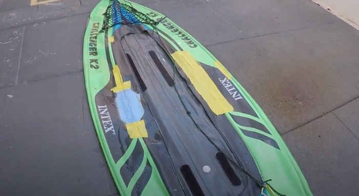 fix holes in an inflatable kayak