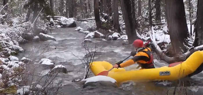 how much gear can you carry on an inflatable kayak?
