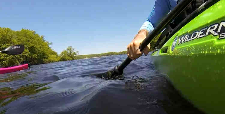 how far do we kayak in a day's time